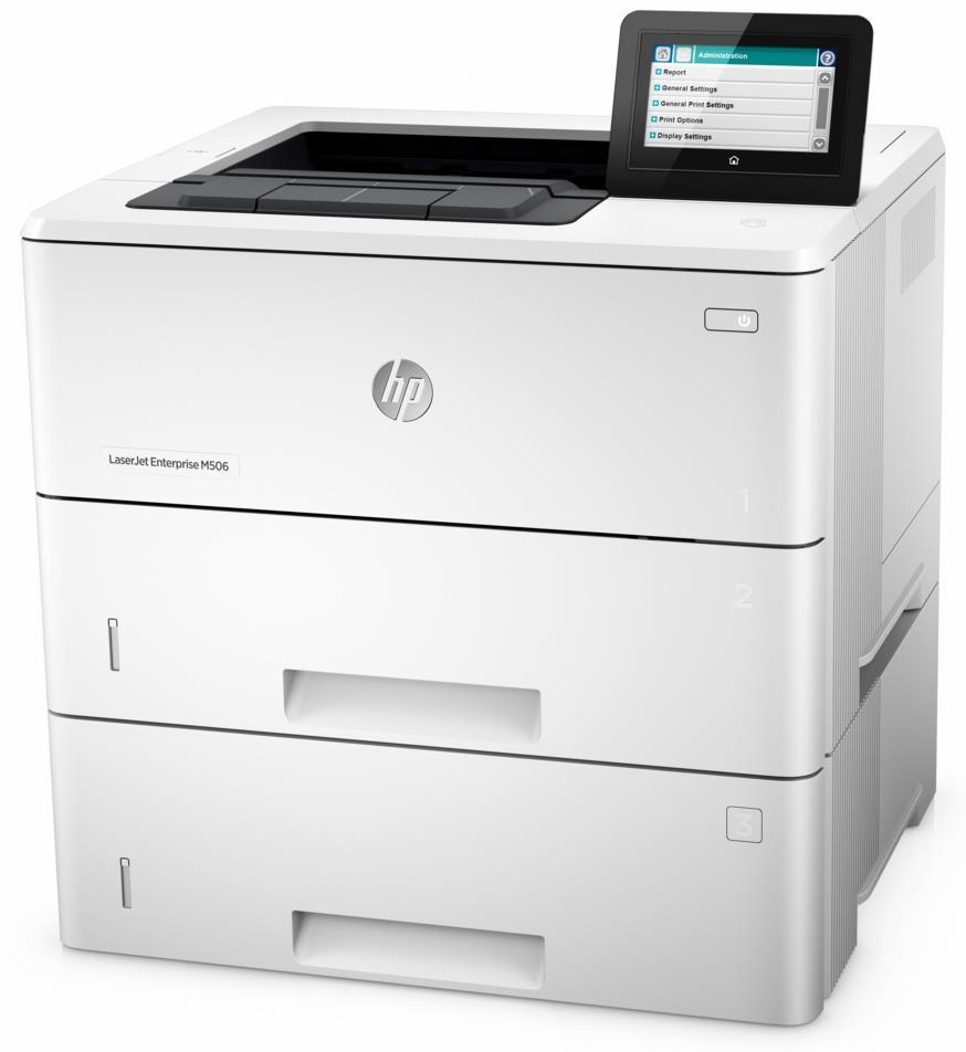 HP LaserJet Enterprise M506x (A4, 43 ppm, USB 2.0, Ethernet,Duplex, TRAY)