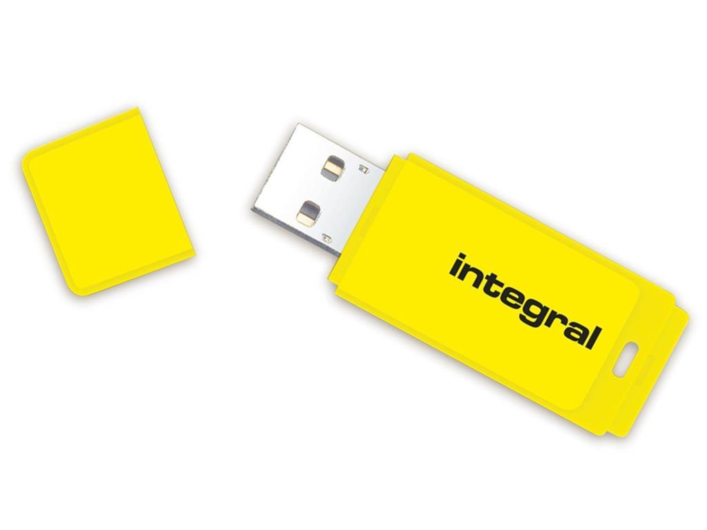 INTEGRAL Neon 16GB USB 2.0 flashdisk, žlutý