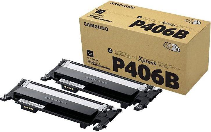 HP/Samsung CLT-P406B/ELS Black Toner Twin Pack