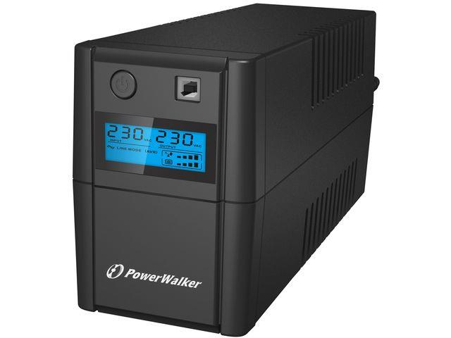 Power Walker UPS Line-Interactive 650VA 2x 230V EU OUT, RJ11 IN/OUT, USB, LCD