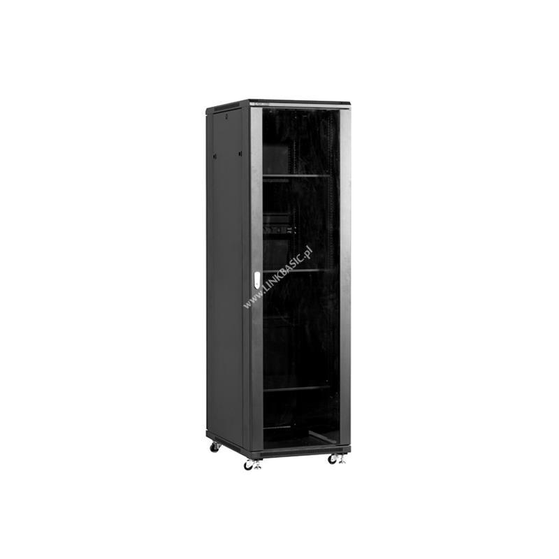 Linkbasic stojící skříně 19'' 32U 600x800mm černá (prosklené dveře)