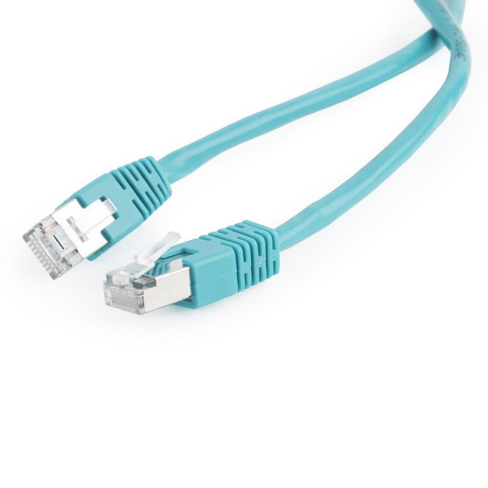 Gembird Patch kabel RJ45, cat. 5e, FTP 0.5m, zelený