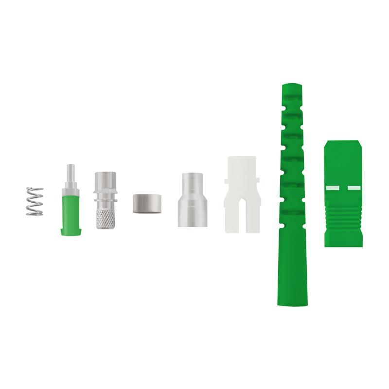 Qoltec Fiber optic connectors SC/APC | Singlemode | 3,0mm