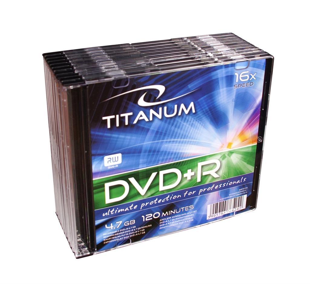 Titanum DVD+R [ slim jewel case 10 | 4.7GB | 16x ]