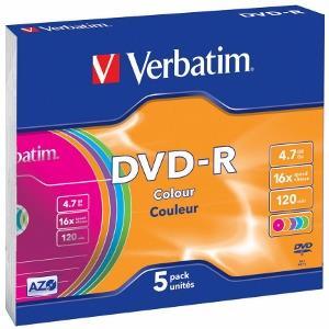 Verbatim DVD-R [ slim jewel case 5 | 4.7GB | 16x | Colour ]