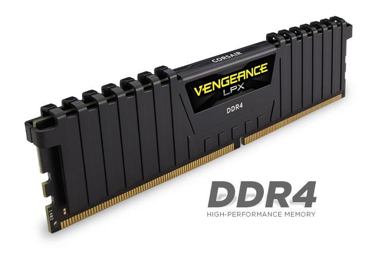 Corsair Vengeance LPX 16GB (Kit 4x4GB) 2133MHz DDR4 CL13 DIMM 1.2V, černý