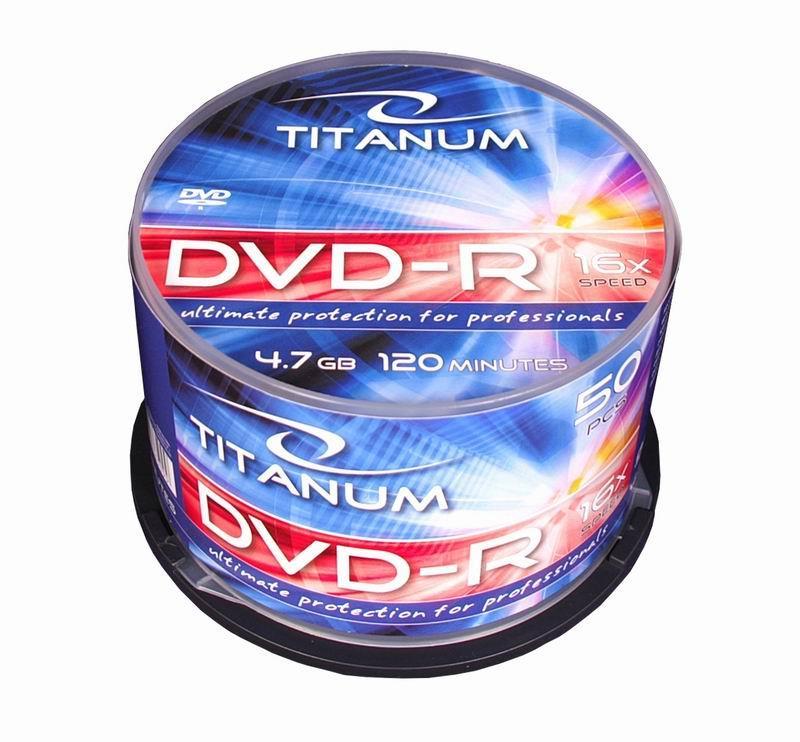 Titanum DVD-R [ cakebox 50 | 4.7GB | 16x ]