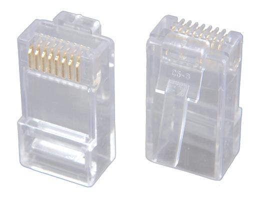 Solarix Modulární konektor 8p8c CAT6 skládaný, nestíněný, pro drát (100ks)