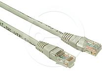 Patch kabel CAT5E UTP PVC 1m šedý