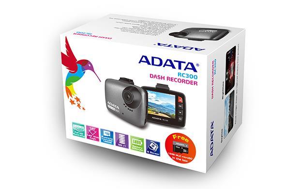 ADATA kamera do auta RC300, USB 2.0 Full HD + 16GB microSD