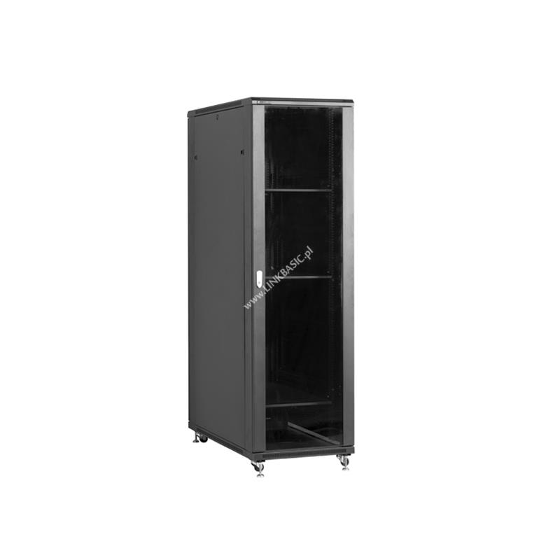Linkbasic stojící skříně 19'' 37U 600x1000mm černá (prosklené dveře)