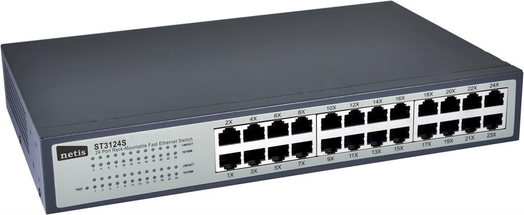 Netis Switch Rack 19'' 24-port 100 MB ST3124S