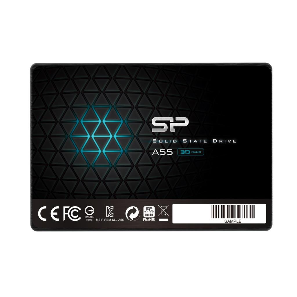 Silicon Power SSD Ace A55 64GB 2.5'', SATA III 6GB/s, 560/530 MB/s, 3D NAND