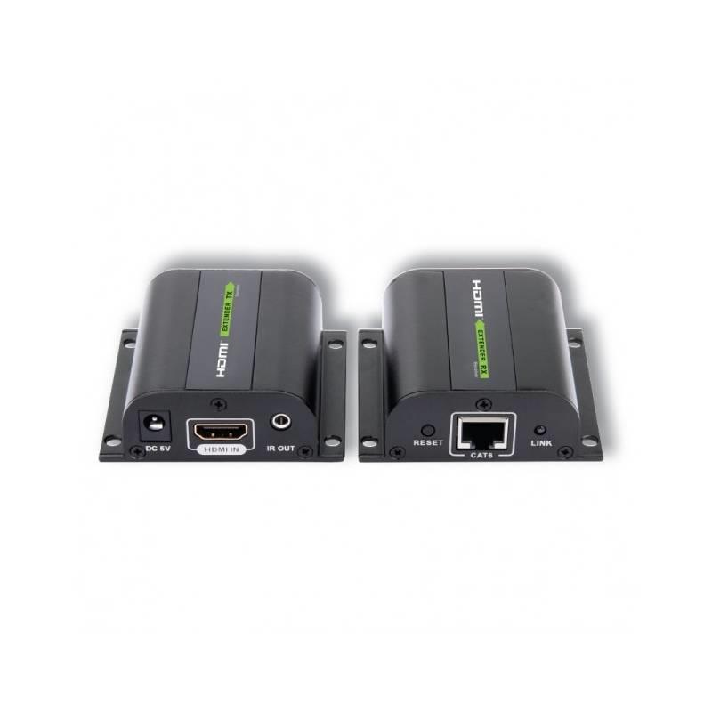 Techly HDMI extender, kabel Cat.5e/6/6a.7, max. 60m s přijímačem IR