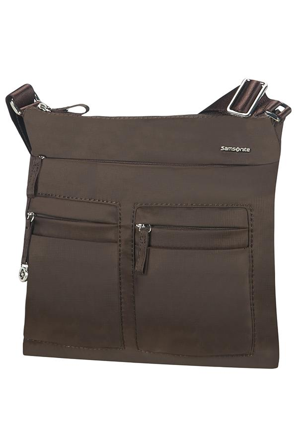 Flat shoulder bag SAMSONITE 88D07129 10,1'' iPAD, pockets, dark brown