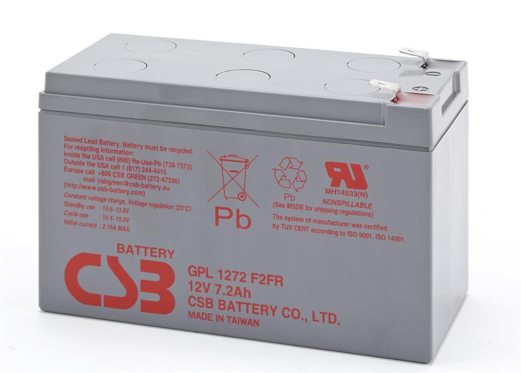 CSB kit 20 baterií GPL1272 F2 12V/7.2Ah, long life