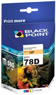 Ink Black Point BPH78D | Color | 19 ml | 580 p. | HP C6578D