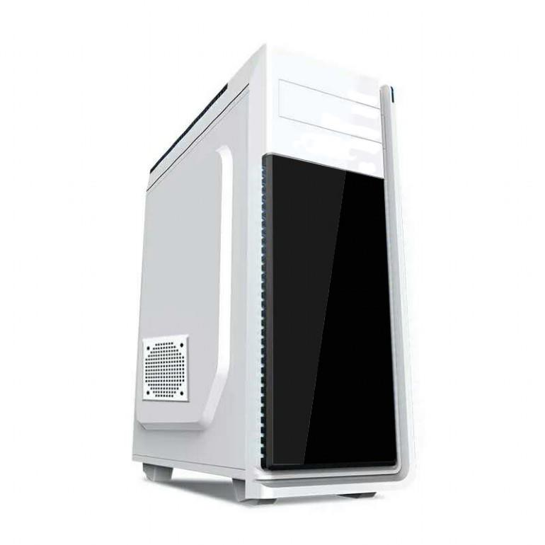 Grmbird ATX gaming PC case, midi-tower, white, ''Neptun''