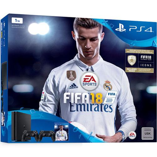 Sony PS4 1TB Slim + Fifa 18 + 2nd Dual Shock Controller + PSN Plus 14 days