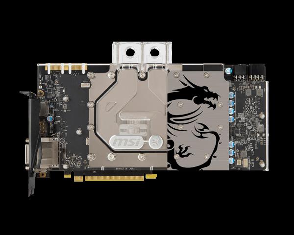 MSI VGA NVIDIA GTX 1080 SEA HAWK EK X, GTX1080, GDDR5X 8GB, blok pro vodní chlazení