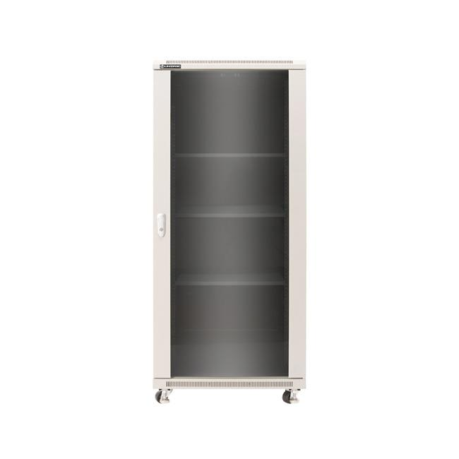 Linkbasic stojící skříně 19'' 37U 600x1000mm šedá (prosklené dveře)