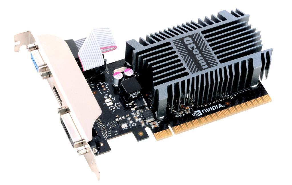 Inno3D GeForce GT 710, 1GB SSDR3 (64 Bit), HDMI, DVI, D-Sub