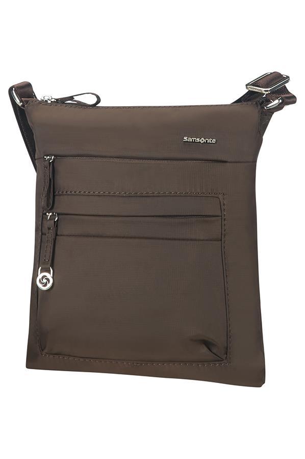 Mini shoulder bag SAMSONITE 88D07128 10,1'' iPAD, pockets, dark brown