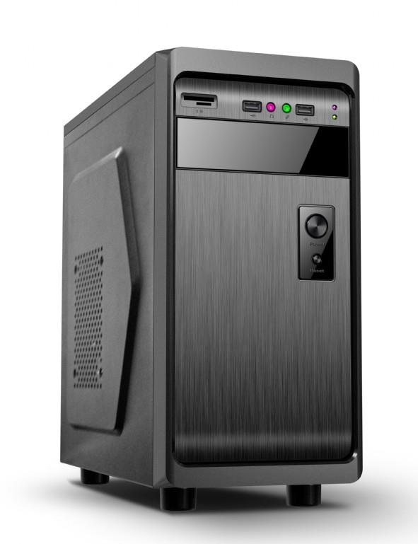 Gembird ATX PC case, mini-tower, black, ''Fornax 100''