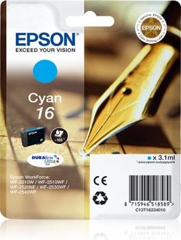 Inkoust Epson T1622 cyan DURABrite | 3,1 ml | WF-2010/25x0