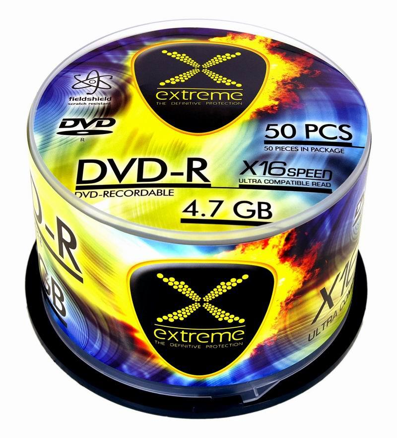 Extreme DVD-R [ cakebox 50 | 4.7GB | 16x ]