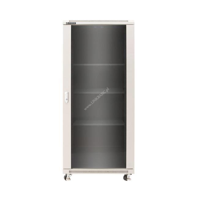 Linkbasic stojící skříně 19'' 42U 600x1000mm - šedá (prosklené dveře)