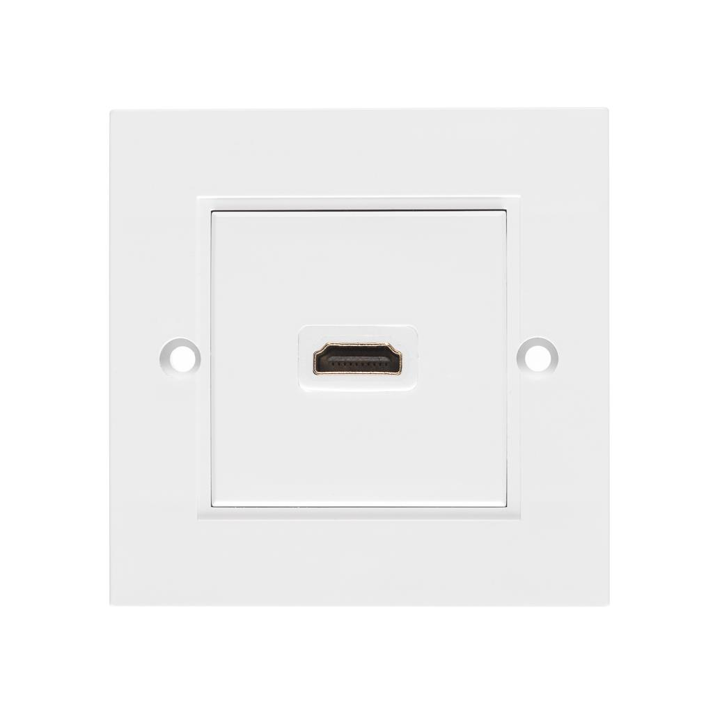Netrack NBOX faceplate with HDMI socket and extension cord