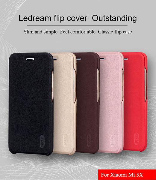 Lenuo Ledream pouzdro pro Xiaomi Mi A1 / Mi 5X hnědé