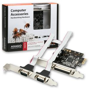 AXAGO PCI-Express adapter 1x paralel + 2x sér.+ LP