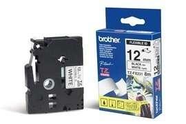 Brother - TZ-FX231, bílá / černá, 12 mm, s flexibilní páskou