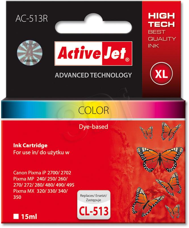 Ink ActiveJet AC-513R | Kolorowy | 15 ml | Canon CL-513