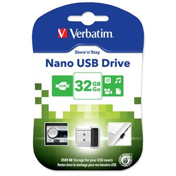 VERBATIM USB Flash Disk Store 'n' Stay NANO 32GB