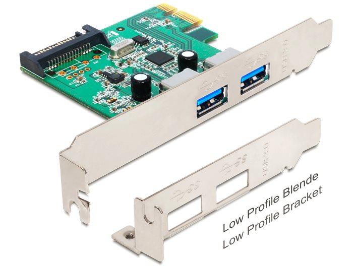 Delock PCI Express karta > 2 x USB 3.0 typ A samice