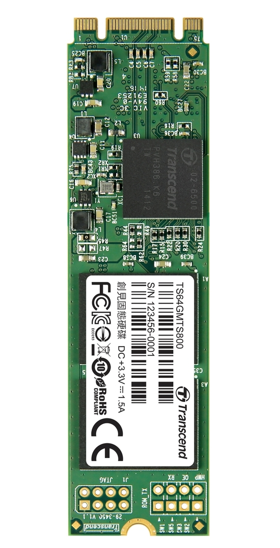 TRANSCEND MTS800 64GB SSD disk M.2 2280, SATA III (MLC)