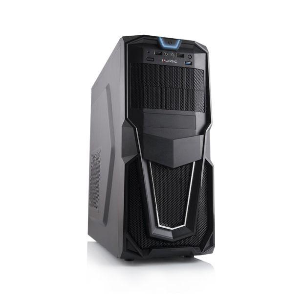 Modecom PC skříň LOGIC B26 MIDI, 1x USB 3.0, 2x USB 2.0 + audio HD, černá, bez zdroje