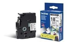 Brother - TZ-FX241, bílá / černá, 18 mm, s flexibilní páskou