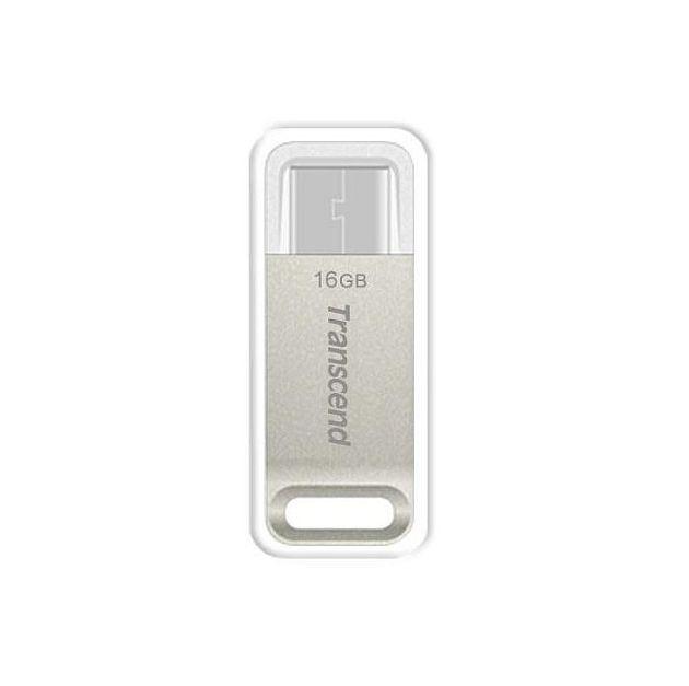 TRANSCEND USB Flash Disk JetFlash®850S OTG, 16GB, USB 3.1 Type-C, Silver (R/W 130/15 MB/s)