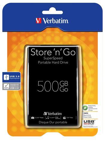 "VERBATIM HDD 2.5"" Store 'n' Go 500GB USB 3.0, Black"