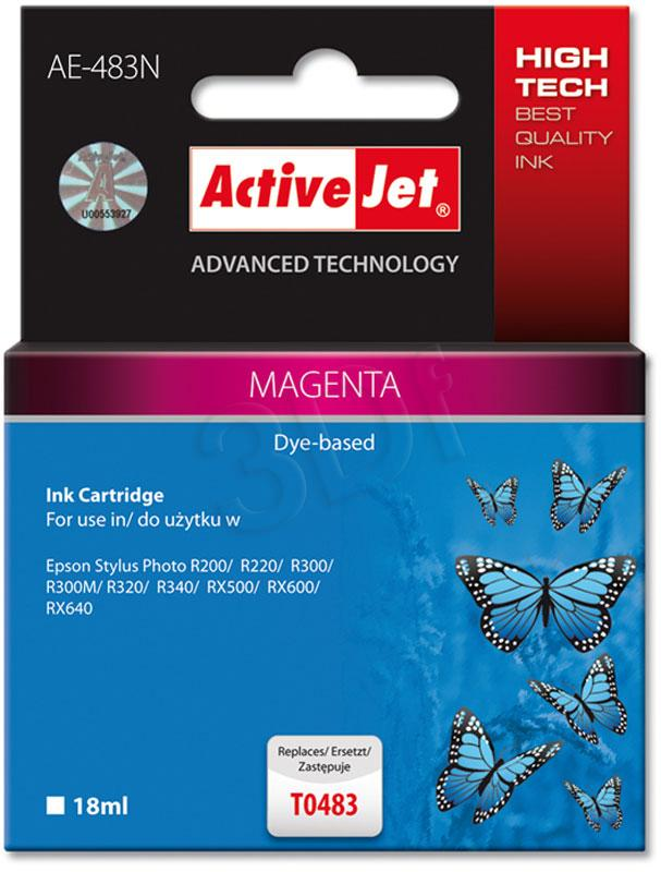 ACTION EXPACJAEP0057 Inkoust ActiveJet AE-483N Magenta 18 ml Chip Epson T0483