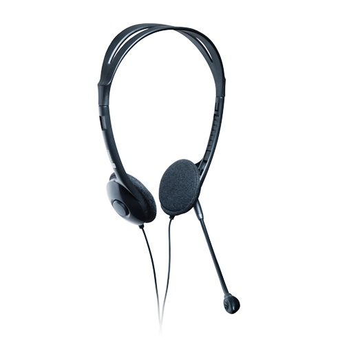 CONNECT IT PC sluchátka s mikrofonem a ovládáním hlasitosti na kabelu