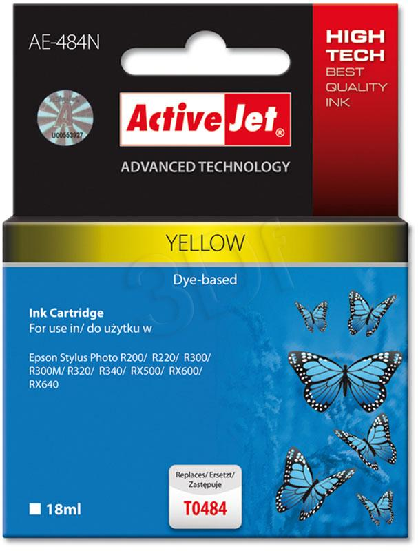 ACTION EXPACJAEP0058 Inkoust ActiveJet AE-484N Yellow 18 ml Chip Epson T0484