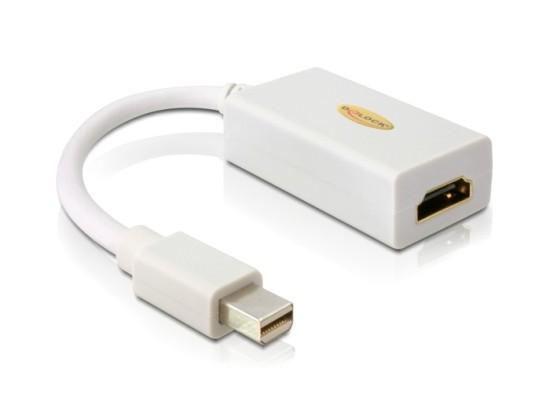 Delock Adapter mini Displayport 1.1 male > HDMI female Passive white