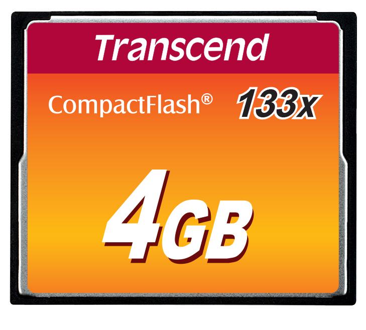 Transcend 4GB CF (133X) paměťová karta (MLC)