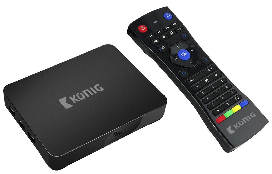 Konig 4K smart TV box se systémem Android™, 4K, 3D, 5G, Wi-Fi