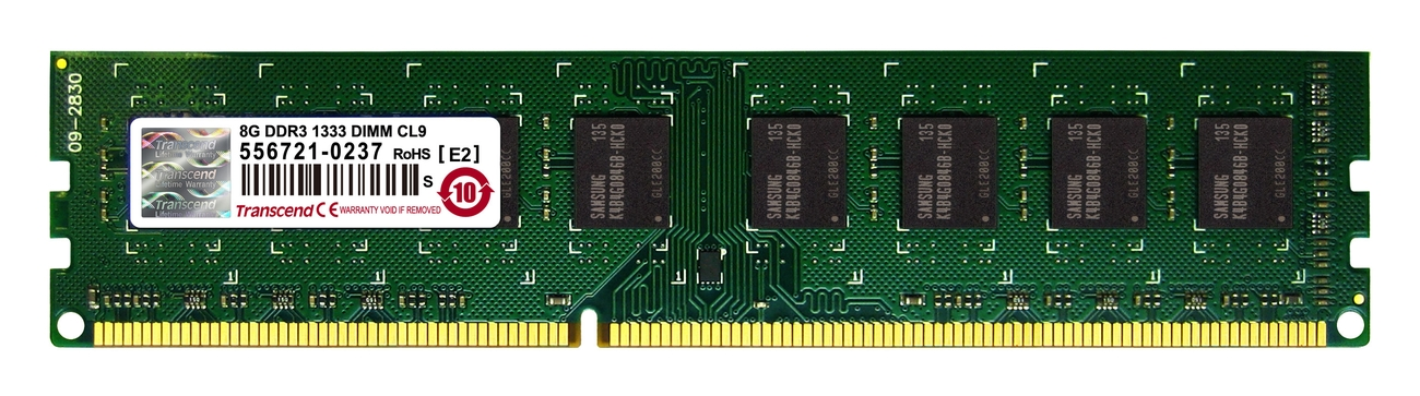 Transcend 8GB 1333MHz DDR3 CL9 DIMM Unbuffered